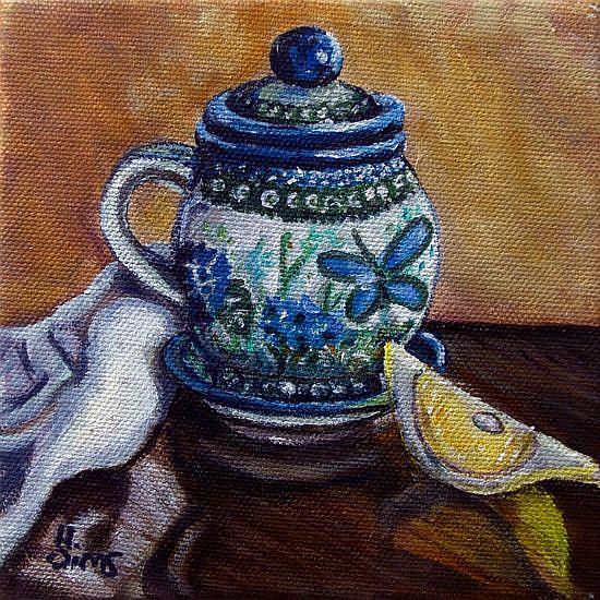 Art: Tea and Lemon: Polish Pottery XLII© by Artist Heather Sims