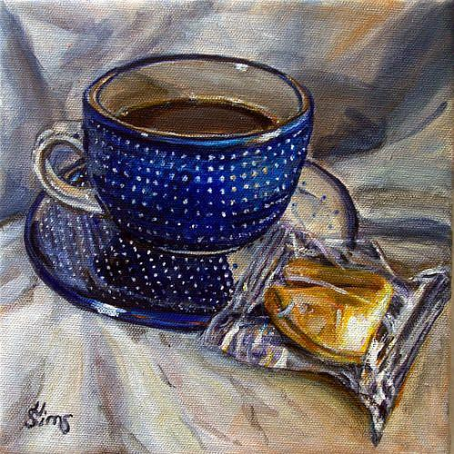Art: What's your fortune?: Polish Pottery LIII by Artist Heather Sims