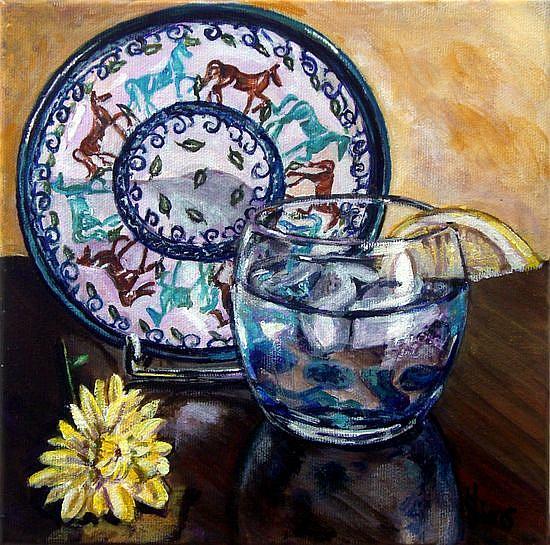 Art: Horse Plate: Polish Pottery LVI by Artist Heather Sims