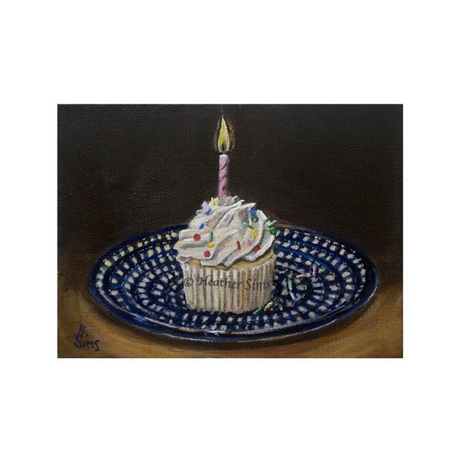 Art: Cupcake: Polish Pottery LXVIII by Artist Heather Sims