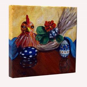 Detail Image for art Chicken and Eggs: Polish Pottery XLVa©