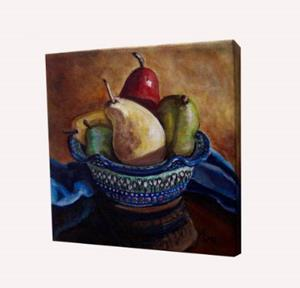 Detail Image for art Bowl of Pears: Polish Pottery XLVI©