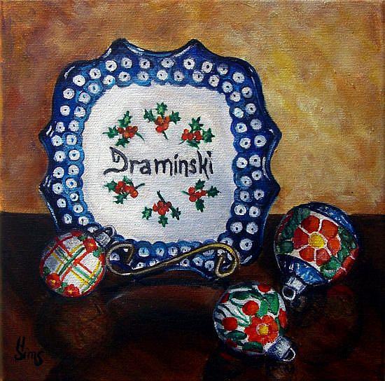 Art: Draminski: Polish Pottery XLVIII© by Artist Heather Sims