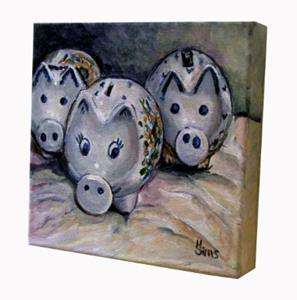 Detail Image for art Three Little Piggies: Polish Pottery LV