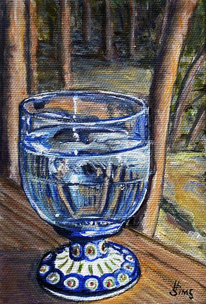Art: Water Glass: Polish Pottery LXIII by Artist Heather Sims