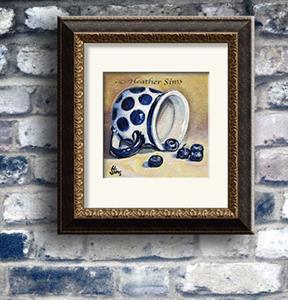 Detail Image for art Blueberries: Polish Pottery LXVI