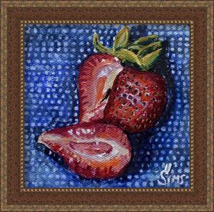 Detail Image for art Strawberries:Polish Pottery LXXIV