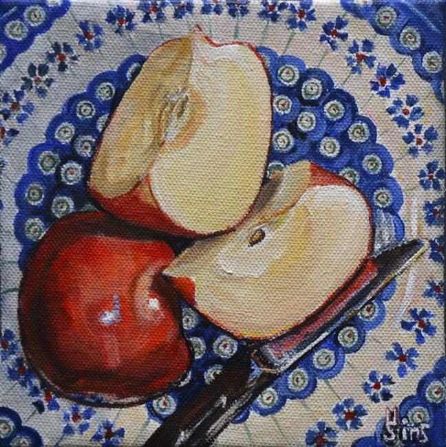 Art: Apples: Polish Pottery LXXXV by Artist Heather Sims