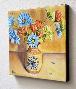 Detail Image for art Vase of Daisies: Polish Pottery LXXXVIII