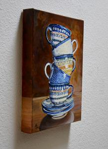 Detail Image for art Teacups Stacked: Polish Pottery XCI