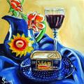 Art: Polish Pottery IX: SPAMMED!!! by Artist Heather Sims