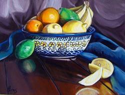 Art: Fruit Bowl: Polish Pottery XXII by Artist Heather Sims