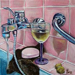 Art: Thinking Pink! A still life by Artist Heather Sims