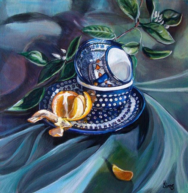 Art: Draped: Polish Pottery XXXII by Artist Heather Sims