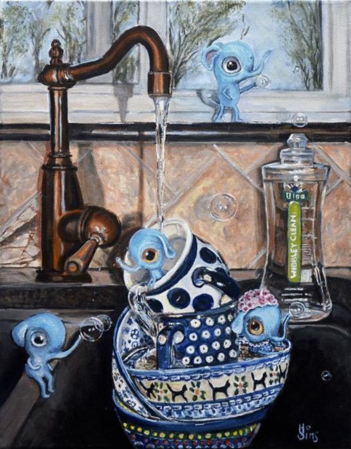 Art: Wibbley Clean: Polish Pottery LXXX by Artist Heather Sims