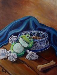 Art: A Dog's Life: Polish Pottery XXXV by Artist Heather Sims