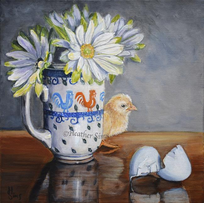 Art: Baby Chick: Polish Pottery XC by Artist Heather Sims