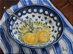 Art: Eggs: Polish Pottery LXXXI by Artist Heather Sims