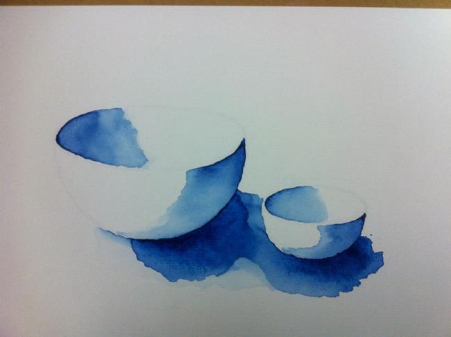 Art: Still life bowls by Artist Saskia Franken-Saers