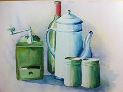 Art: Still life in watercolor by Artist Saskia Franken-Saers