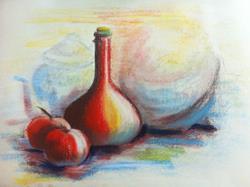 Art: Still life in pastel by Artist Saskia Franken-Saers