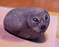 Art: Gray Seal Rock Art by Artist KiniArt