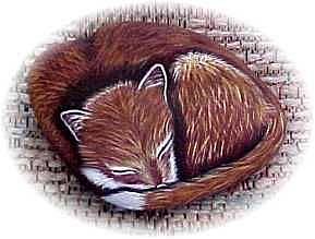 Art: Lil' Snoozer Fox Pup by Artist KiniArt