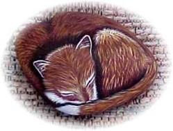 Art: Lil' Snoozer 3D Fox Pup by Artist KiniArt