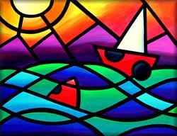 Art: Coastal Cruising by Artist Amanda Hone