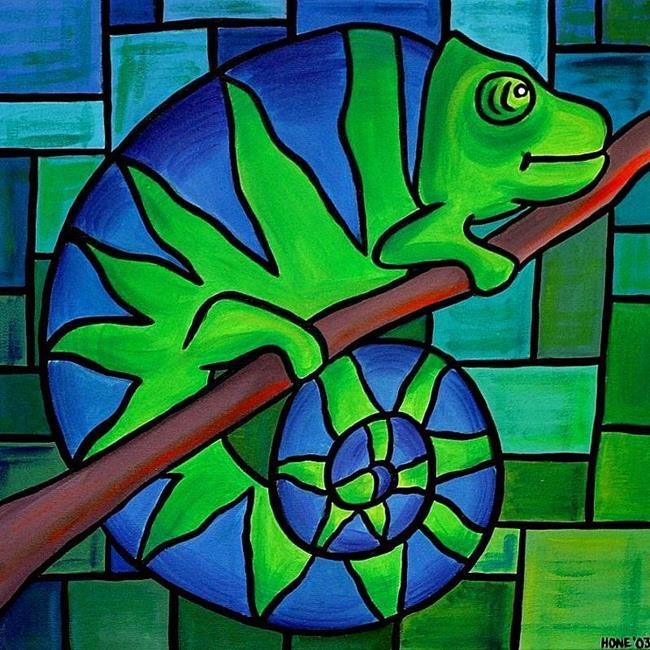 Art: Chameleon by Artist Amanda Hone