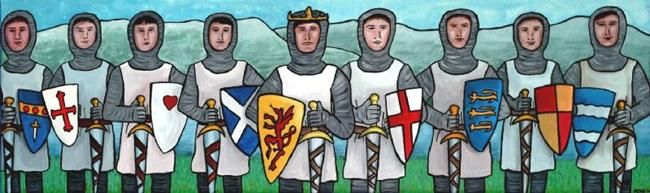 Art: King Arthur and the Knights of the Round Table by Artist Amanda Hone