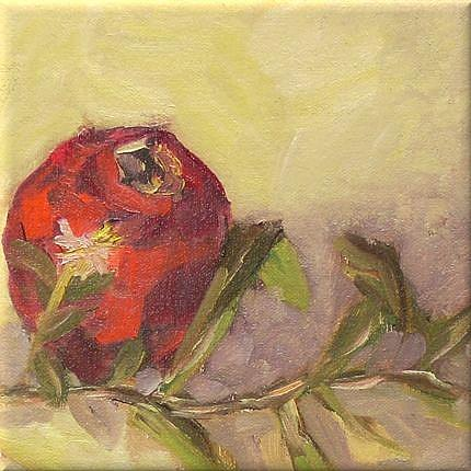 Art: pomegranate with weed by Artist C. k. Agathocleous