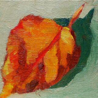 Art: orange leaf by Artist C. k. Agathocleous