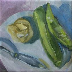 Art: pickles on platter by Artist C. k. Agathocleous