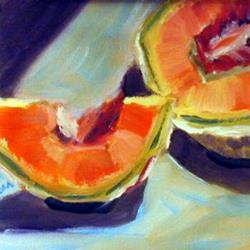 Art: Cantaloupe Half by Artist C. k. Agathocleous