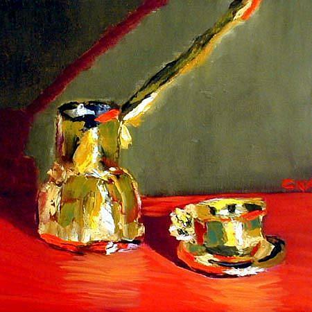 Art: small greek coffee by Artist C. k. Agathocleous