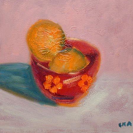 Art: orange bowl by Artist C. k. Agathocleous