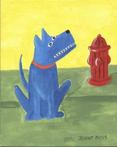 Detail Image for art Stuffed Blue Dog!