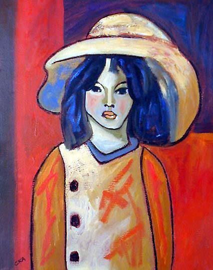 Art: Orange Coat by Artist C. k. Agathocleous