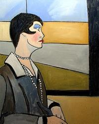 Art: Lady in Waiting by Artist C. k. Agathocleous