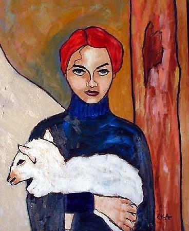 Art: Lamb by Artist C. k. Agathocleous