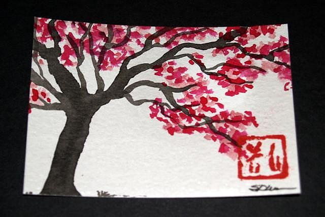 Art: Plum Blossoms #10 by Artist Shari Lynn Schmidt