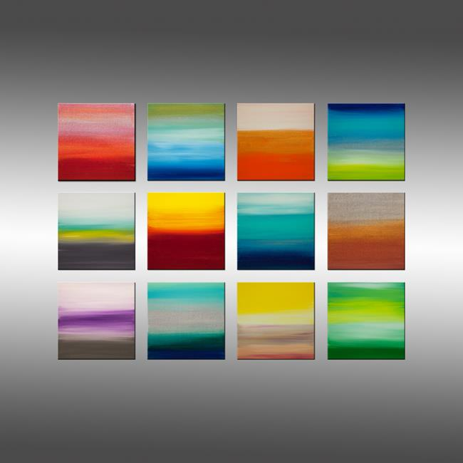 Art: Dreaming of 12 Sunsets by Artist Hilary Winfield