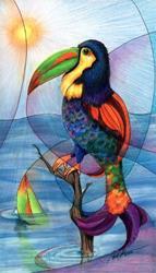 Art: Toucan Fish by Artist Alma Lee