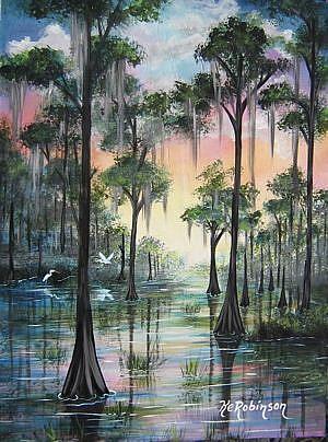 Art: FLORIDA EVERGLADES - SOLD by Artist Ke Robinson