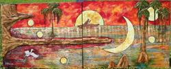 Art: Seminole Moons - SOLD by Artist Ke Robinson