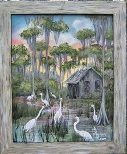 Detail Image for art FLORIDA Swamp House SOLD