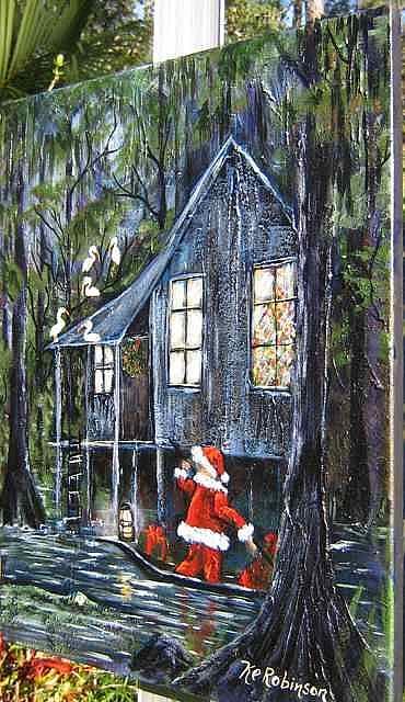 Art: Christmas in the Swamp 2008 by Artist Ke Robinson