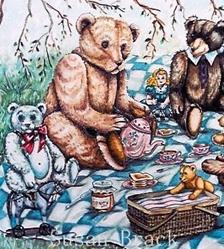 Art: FARLOWS PICNIC by Artist Susan Brack