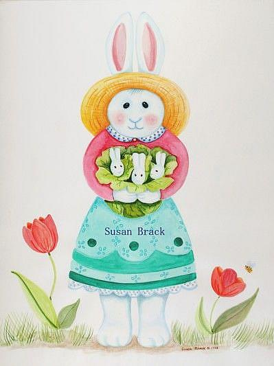 Art: MOTHER RABBIT by Artist Susan Brack